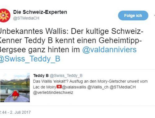 Juni 2017: Teddy B zwitschert auch auf Twitter