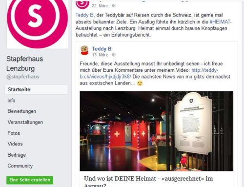 Stapferhaus Lenzburg (AG): Teddybär auf Heimatsuche
