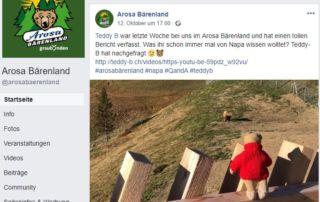 Teddy B und Napa im Arosa Bärenland