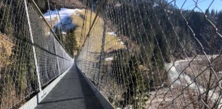 Hängebrücke Hostalde (BE): Ein spektakulärer Schuss