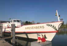 """Vogelschau-Fahrten auf dem Bodensee an Bord der """"Arenenberg""""."""