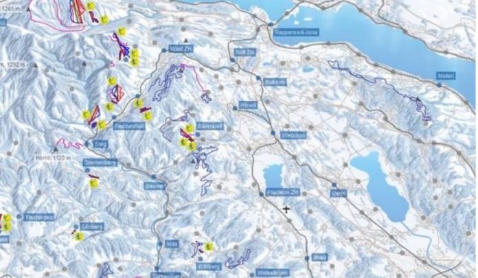 teddy-b.ch - Zürcher Oberland - Wintersportkarte